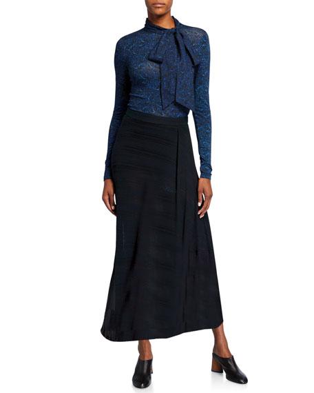 Rokh Chiffon Tassel Maxi Skirt