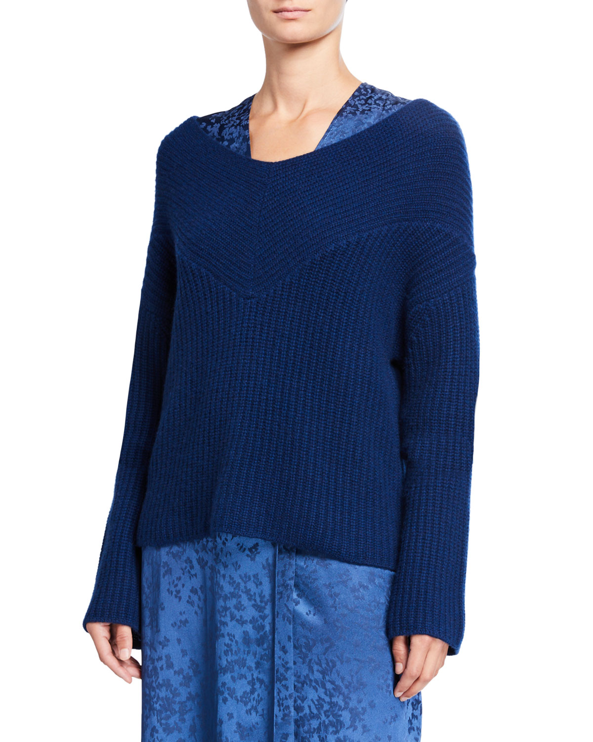 Sally LaPointe Cashmere Wide-Neck Sweater and Matching Items & Matching Items