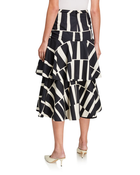 Johanna Ortiz Vanguard Cotton Midi Skirt