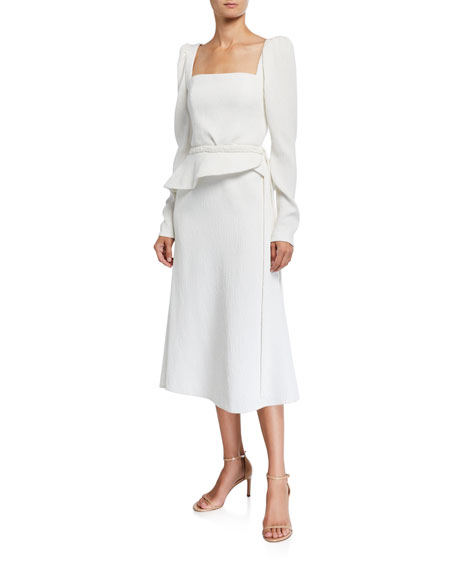 Johanna Ortiz Catalyst Square-Neck Midi Dress