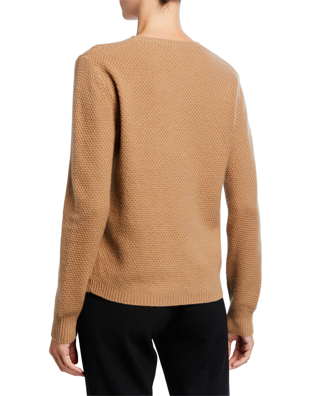 Termoli Cashmere Cable Stitched Sweater by Maxmara