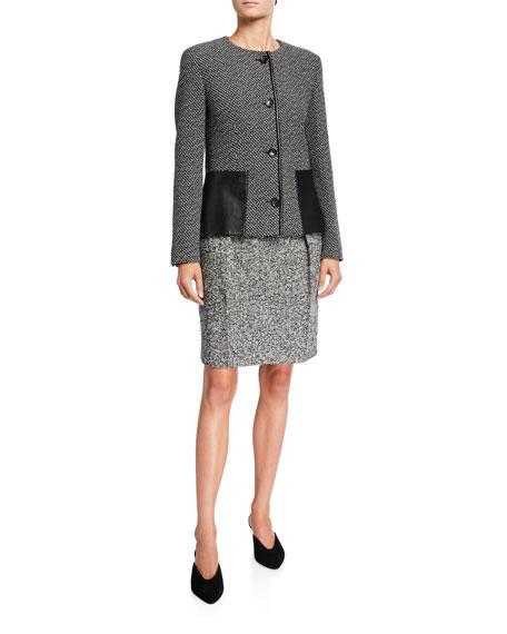 Maxmara Rosita Melange Wool Skirt