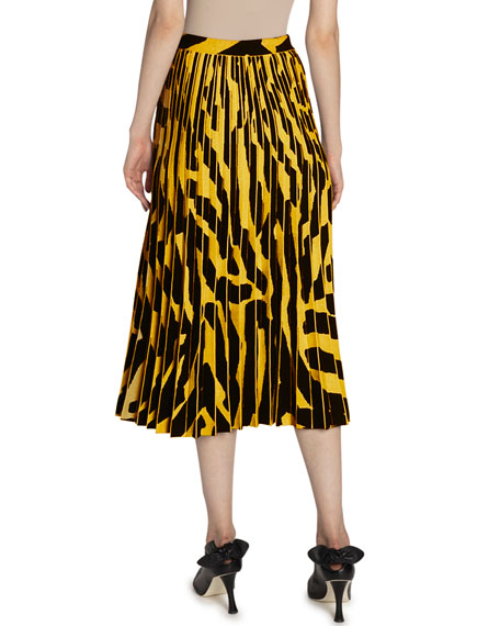 Image 2 of 2: Proenza Schouler Printed Accordion Pleated Midi Skirt