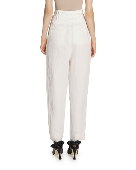 Image 2 of 2: Proenza Schouler High Rise Double-Belted Pants