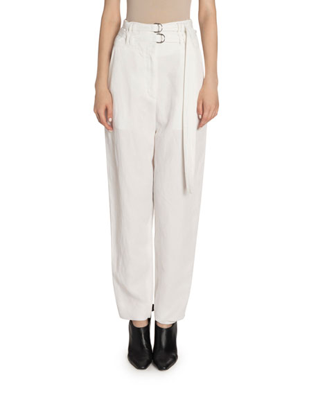 Image 1 of 2: Proenza Schouler High Rise Double-Belted Pants
