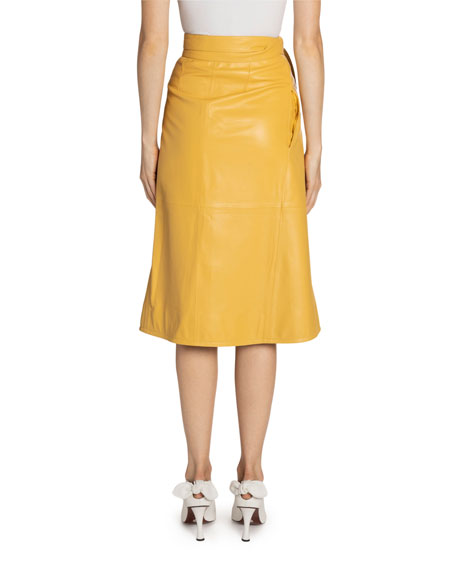 Proenza Schouler Leather Wrapped Skirt