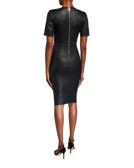 Nour Hammour Jolie Leather Body-Con Dress