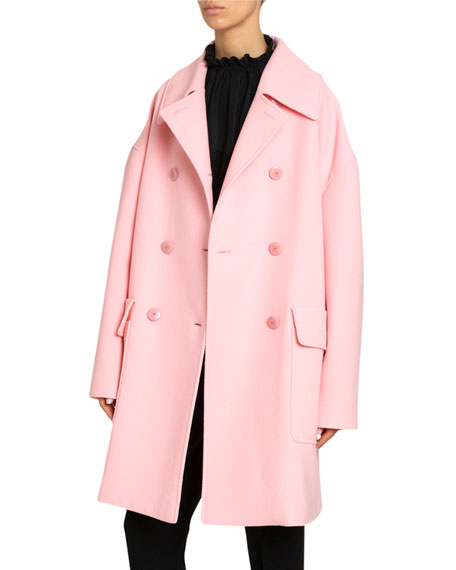 Givenchy Oversized Double-Breasted Wool Coat