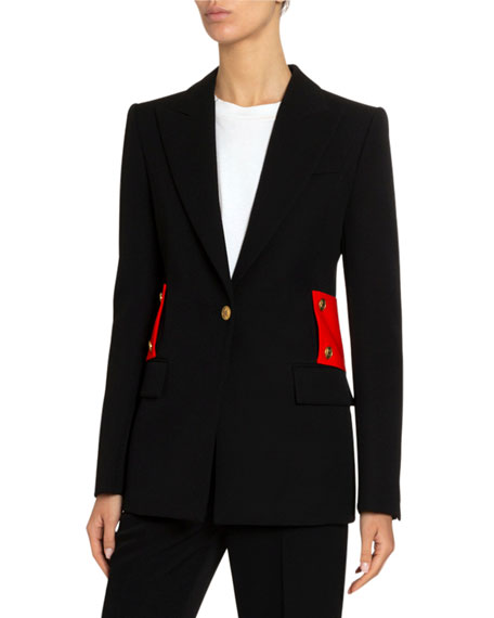 Givenchy Wool Tricotine Martingale Coat