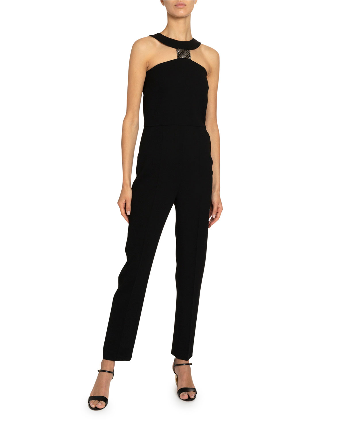 Givenchy Jumpsuits CRYSTAL T-NECK STRAIGHT-LEG JUMPSUIT