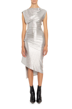 Paco Rabanne High-Neck Midi Dress