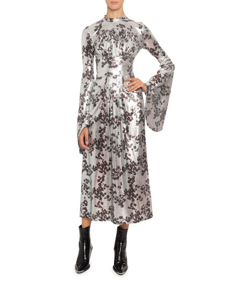 Paco Rabanne Long-Sleeve Gown