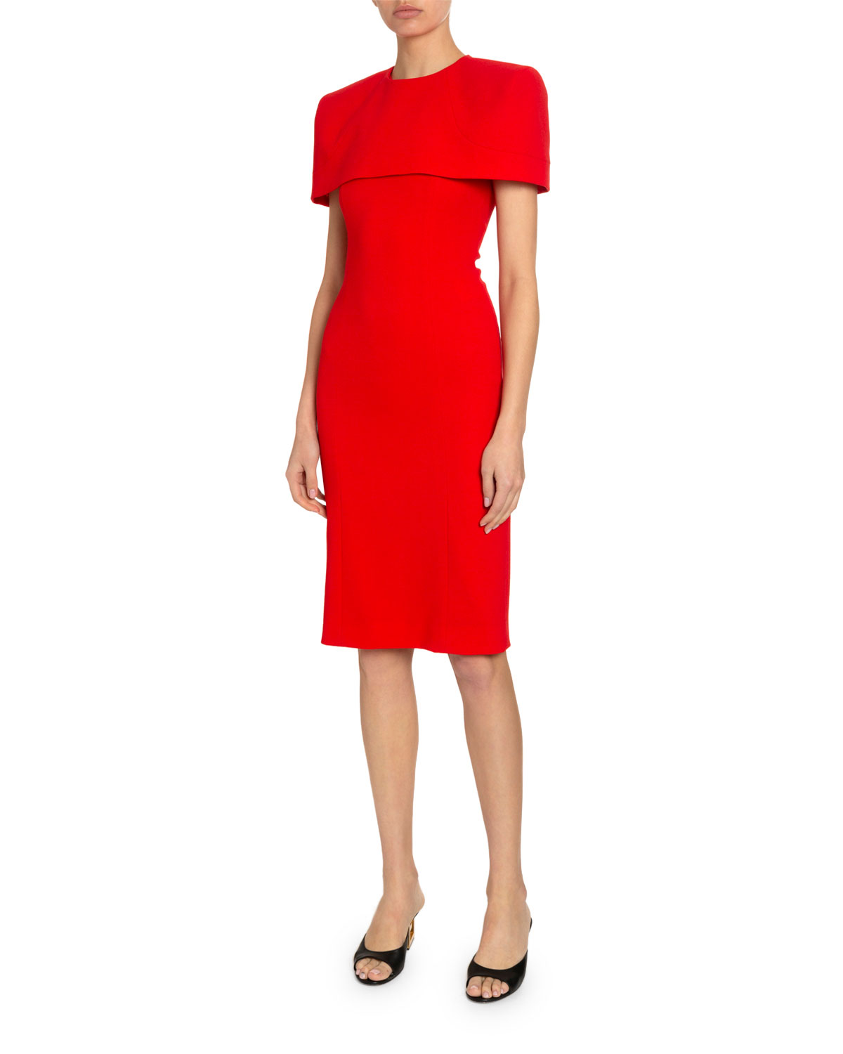 Givenchy Capes CREPE WOOL DRESS WITH REMOVABLE CAPELET