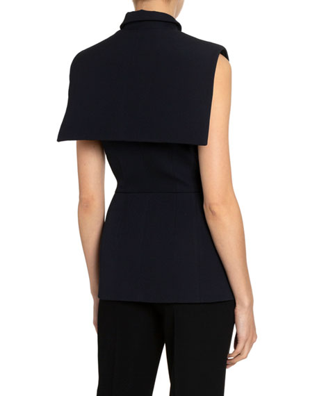 Givenchy Double-Breasted Cape-Back Blazer Vest