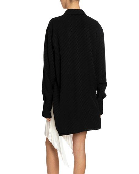 Givenchy Chain-Jacquard Silk Shirt