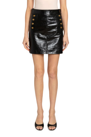 Givenchy Patent Leather Mini Skirt