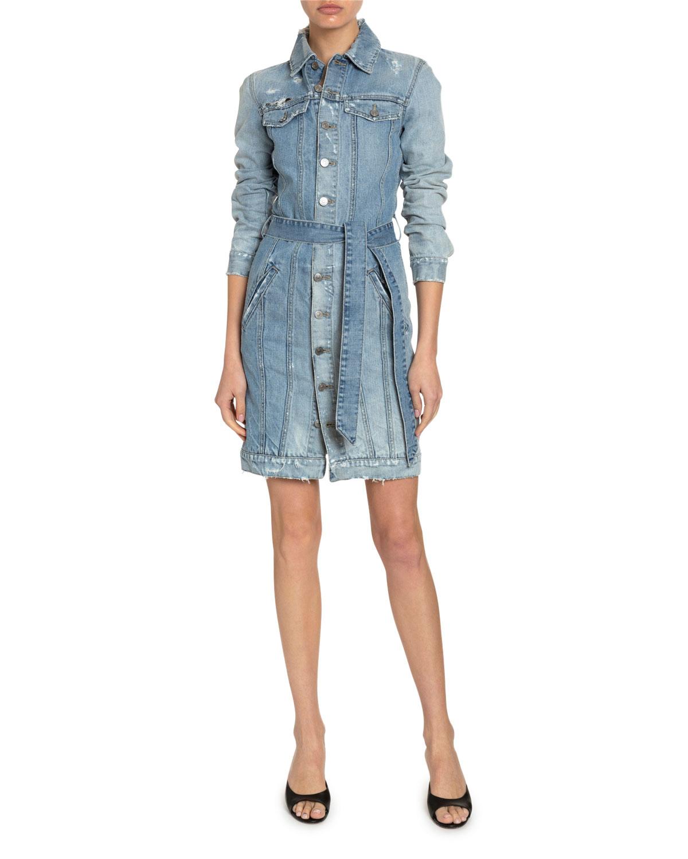 Givenchy Dresses WASHED DENIM BELTED SHIRTDRESS