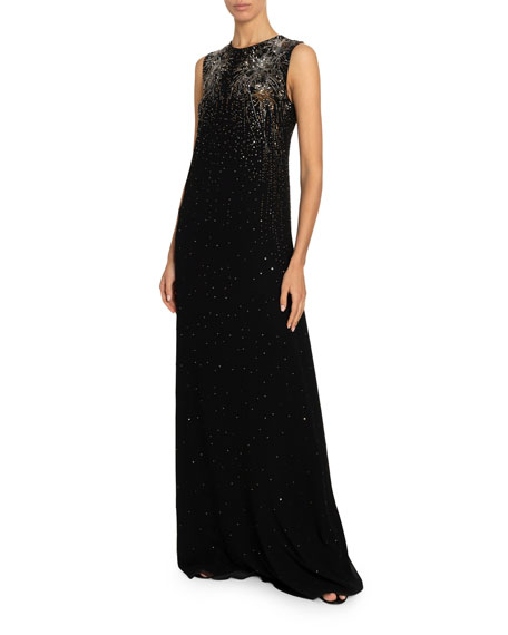 Givenchy Firework-Beaded Column Gown