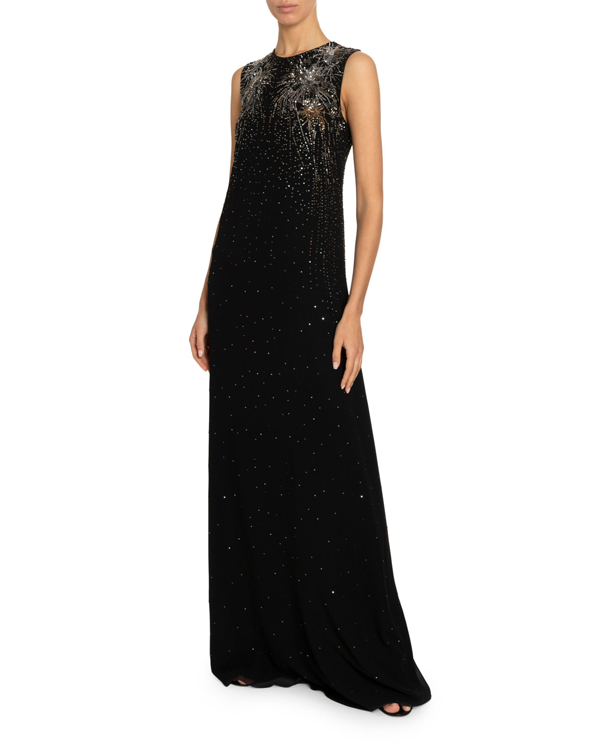 Givenchy Tops FIREWORK-BEADED COLUMN GOWN