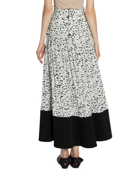 Proenza Schouler Abstract-Print Midi Skirt