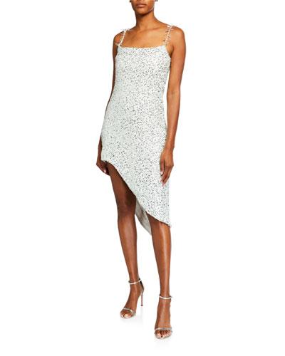 Floral Print Asymmetric Sheath Dress