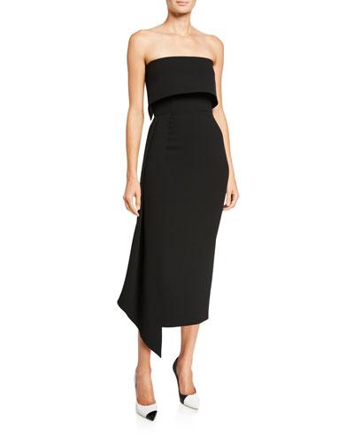 Alexander Strapless Asymmetric Dress