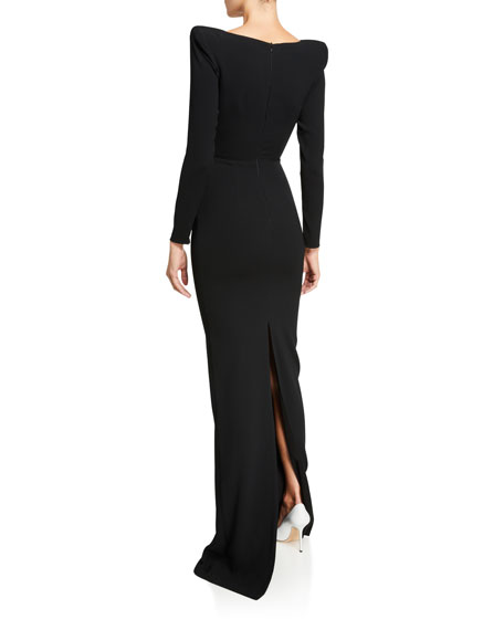 Alex Perry Alex Long-Sleeve Column Gown