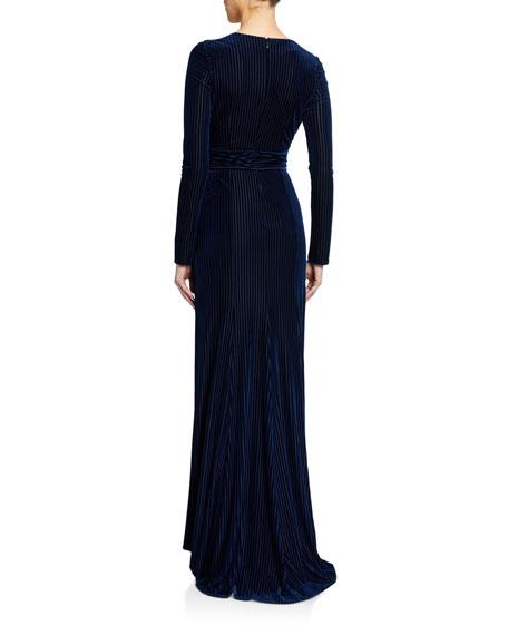 Galvan Velvet Devore Stardust Gown