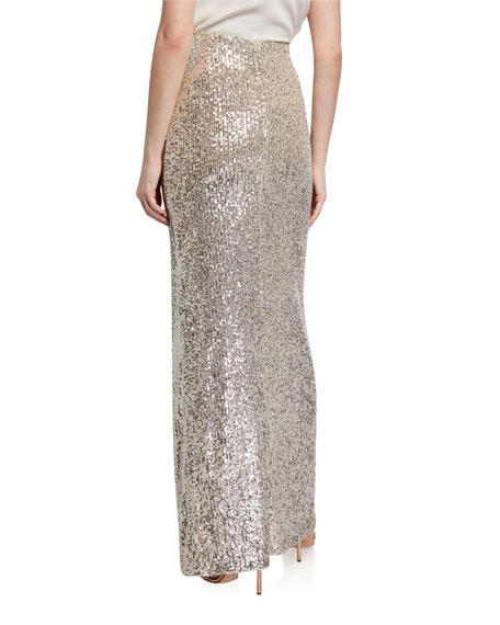 Image 2 of 3: Galvan Modern Love Sequined Maxi Skirt