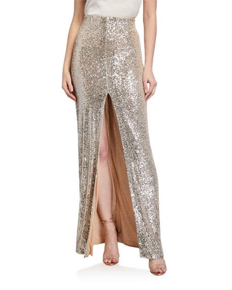 Image 1 of 3: Galvan Modern Love Sequined Maxi Skirt