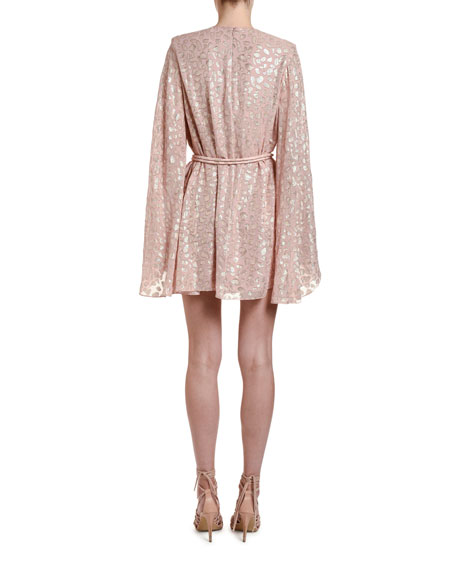 Stella McCartney Metallic Animal-Spot Jacquard Silk Mini Dress