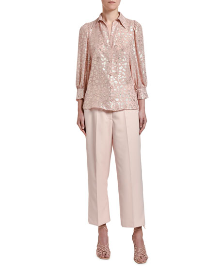 Image 3 of 3: Stella McCartney Long-Sleeve Button-Front Shirt