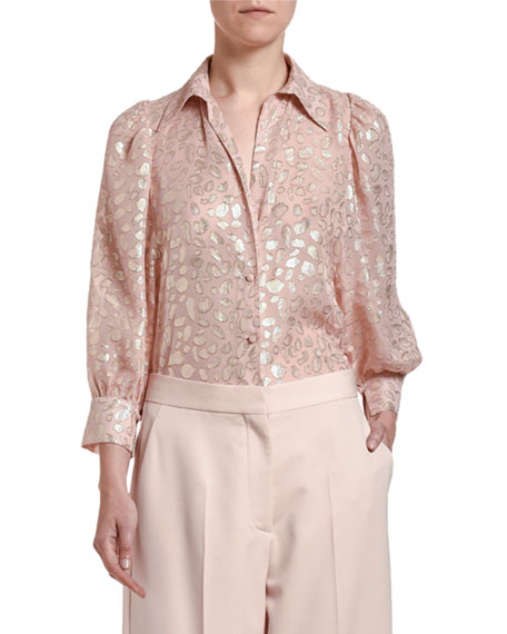Image 1 of 3: Stella McCartney Long-Sleeve Button-Front Shirt