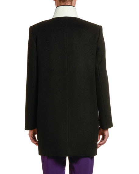 Image 2 of 2: Stella McCartney Double-Face Wool Coat