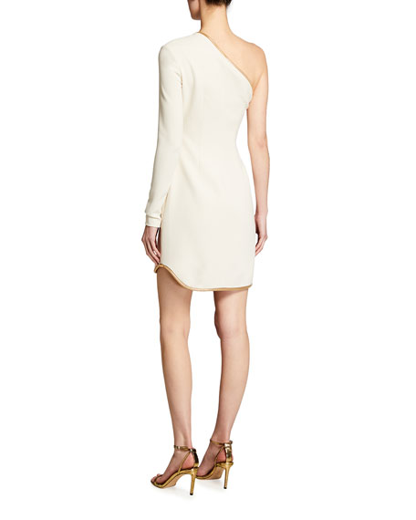 Stella McCartney Piped One-Sleeve Cocktail Dress
