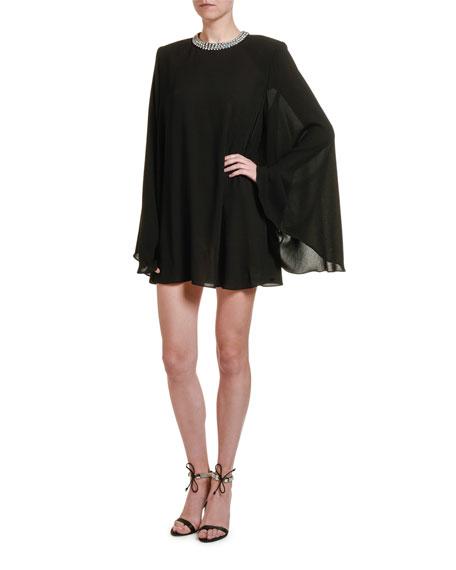 Stella McCartney Long-Sleeve Trapeze Cocktail Dress