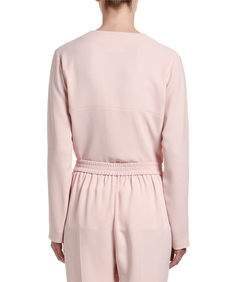 Image 2 of 2: Stella McCartney Long-Sleeve Half-Zip Cady Top