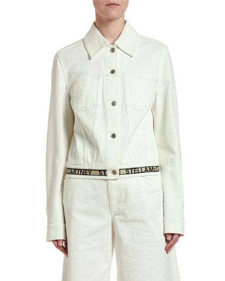 Stella McCartney Cropped Logo-Belted Jacket