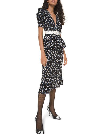 Michael Kors Collection V-Neck Peplum Dress