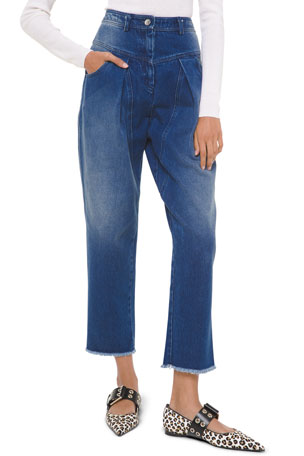 Michael Kors Collection Pleated Straight-Leg Jeans