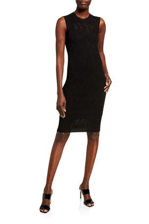 Versace V-Pattern Lace Dress