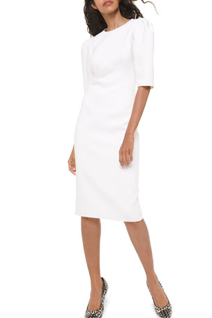 Michael Kors Collection Puff-Sleeve Sheath Dress