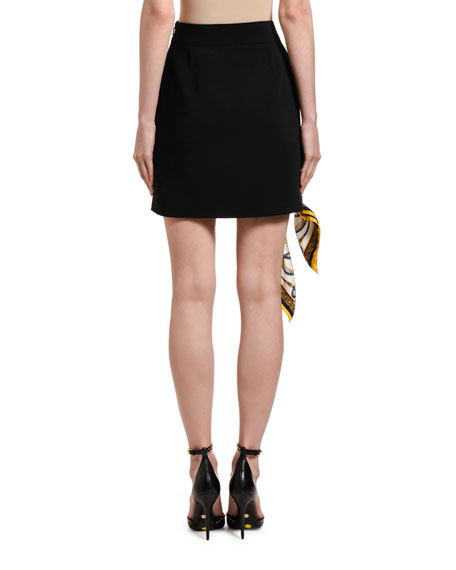 Versace Mini Skirt w/ Scarf Ring