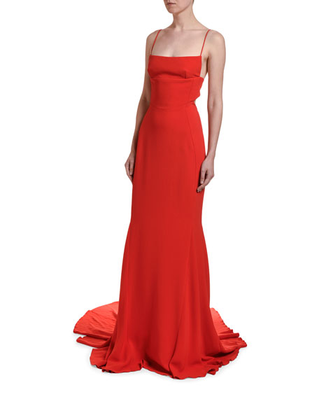 Stella McCartney Spaghetti-Strap Gown