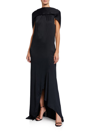 Roland Mouret Skylark Silk Column Gown