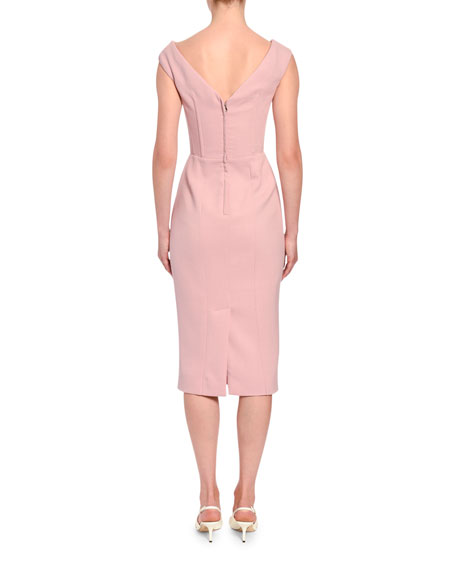 Dolce & Gabbana Sleeveless Crepe Pencil Dress