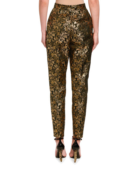 Dolce & Gabbana Jacquard Lame Slim Pants