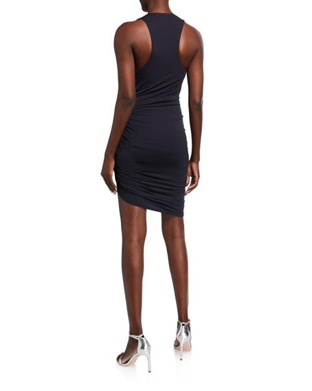 Alexandre Vauthier Ruched Jersey Wrap Dress