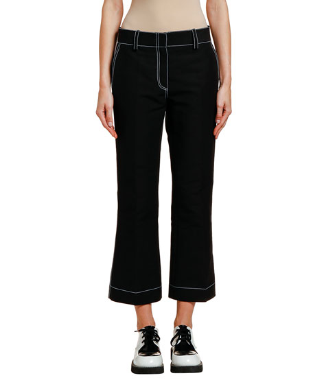 Marni Pants CONTRAST-STITCHED COTTON TROUSERS