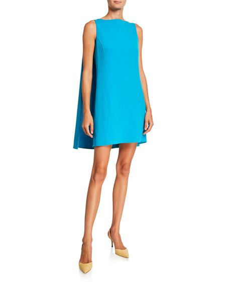 Oscar de la Renta Caped Shift Mini Dress